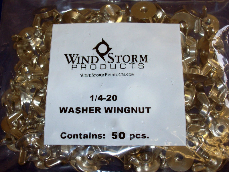 Washered Wingnuts 50 Pack